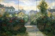 Tile Mural Backsplash Mirkovich Ceramic French Landscape Garden Art NMA028