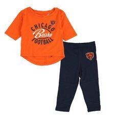"Chicago Bears ""Football Sweetheart"" Girls Orange T-Shirt & Pants Set (12-24M)"