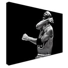 Michael Jordan 23 Legend Black N White Basket Canvas print wall art