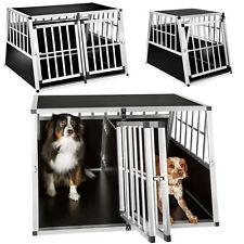 XXL Alu Doppel Hundebox mit Trennwand Transportbox Hundetransportbox trapez