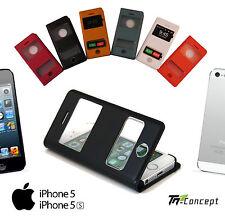 Housse / Coque / Etui à Rabat - Iphone 5 -  Iphone 5S - Simili-cuir - 6 couleurs