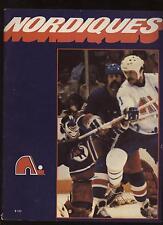 1978-79 Hockey French Program Winnipeg Jets @ Quebec Nordiques EX+