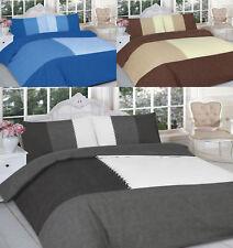 Suede Patch Duvet Quilt Cover Set Sizes Single Double King Superking Pillow Case