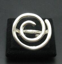 Sterling Silber Ring massiv 925 Spirale neu Größe G - Z r000920
