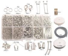 Jewelry Making Supplies Kit-1014PCS Split Jump Ring Lobster Tube Wire Cord etc