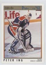 1991-92 O-Pee-Chee Premier #33 Peter Ing Edmonton Oilers Hockey Card