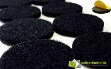 Filzgleiter rund schwarz | stark selbstklebend Ø 15mm - 62mm | Möbelgleiter 3mm