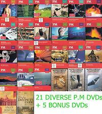 21 P.M DVDs + 5 Bonus DVDs ( Wissen, Technik, Biopic, Geschichte, Mystery,Sci-Fi