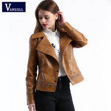 new product 712c1 177f5 Cappotti e giacche da donna marrone in pelle sintetica ...
