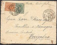 REGNO 1896 - 20+ 5 c. n. 59+61 PER YUCIGALPA(NICARAGUA), RARA!!