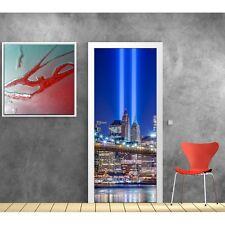 Stickers porte New York lumière 825