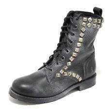 3768L anfibi neri donna FRYE rogan studi pace tall stivali scarpe boots shoes wo