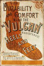 Vulcan Socks Advert Vintage Retro style Metal Sign, clothing advertising