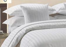 1000 Thread Count Egyptian Cotton White Striped Sheet Set All Sizes