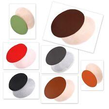 Bügelflicken 12 x 18 cm Eko Leder oval  robust Farbwahl Aufbügler Aufnäher