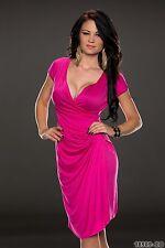 fête Vêtement CLUB élégant robe de cocktail Profond AVANT COU UK Taille 8-10