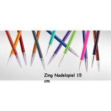 KnitPro ZING Nadelspiel Socken Aluminium bunt beschichtet  15 cm - VERSCHIEDENE
