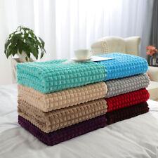 Soft Blanket Refined Craft Plaid Flannel Fleece Blanket Knee Blanket Wool Velvet
