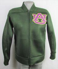 Auburn University Women's GIII Green Front Zip Sheer Mesh Motorcycle Jacket NCAA