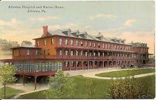 Hospital and Nurses Home Altoona PA Postcard