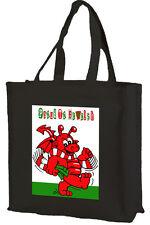 Baby DRAGO GALLESE, Cotone Shopping Bag, GALLES/WALES-scelta di colori.