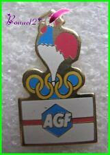 Pin's AGF avec Animal un Coq Anneau Olympique #G3