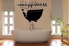 felicità Adesivo Parete Bagno Arte Camera Decorazione Toilette PIPISTRELLO 50