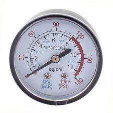 Round 0-180 psi 13mm 1/4BSP Diameter Dial Comparator Air Manometer, Black X9X6