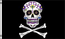 Tattoo Pirate 3X5 Flag Fl454 skull cross bones pirates 3 x 5 large wall banner