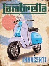 Lambretta Innocenti - Target Metal Wall Sign (3 sizes - Small / Large and Jumbo)