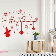 Merry Christmas Window sticker, Christmas snowflake sticker Snowmen home decor