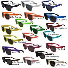 20 Stück Sonnenbrillen 80er Nerd Style Brille Retro Atzenbrille Brillen
