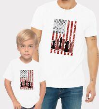 Chess & Chess Board US Flag Adults Mans & Womens & Kids & Boy & Girl T-Shirt