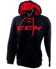 CCM Hockey Black/Red Adult/Senior Hoody Pullover Sweatshirt