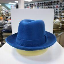 BORSALINO OCEAN BLUE LONG HAIR FUR FELT DRESS HAT *READ DESCRIPTN FOR SIZE