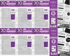 Neu Crafters Companion 3D 12.7cm X 17.8cm Prägung Ordner oder A6 Stempel