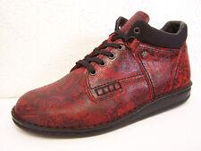 Finn Comfort Linz en Rouge - Noir Buggy avec Doublure avec Sac à Chaussures