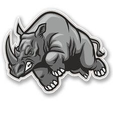 2 x Angry Rhinosaurus Vinyl Sticker Decal iPad Laptop Helmet Car Rhino #4752/SV