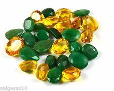 100-1000 Ct. Natural Mix Shape Emerald & Citrine Loose Gemstone Wholesale Lot