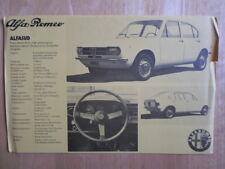 ALFA ROMEO Alfasud 1200 1973 UK Market specs brochure