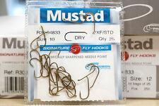 Mustad r30 dry fly Signature fly 25 Hooks #10, #12 & #16 precio de acción
