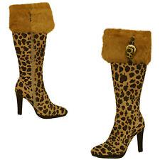 Cochni Tall Dress Boots for Women - Leopard