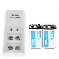 Batteria ricaricabile al Ni-Mh da 9 V 9 V 9 V 900 mAh con caricabatterie