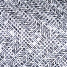 Metallic Silver Geometric by Robert Kaufman, Cotton Fabric, Per 1/2 Yd or Per Yd