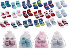 Les nouveau-nés coloré doux chaussettes en organza bag boys & girls 0 - 12 mois