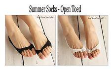 Summer Socks - Open toe None-slip Thin female women's Bamboo Fibre Black/White