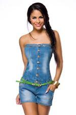 Salopette jeans original mode femme costume fille ceinture verte sangles uy 1396