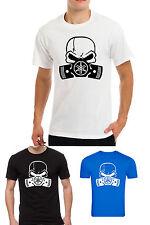 YAMAHA skull punisher mask , motorbike motorcycle mens white t-shirt