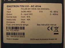 Emotron  FDU48-06154CE-EANNNNAN  VFD AC Motor Drive (Various Parts)