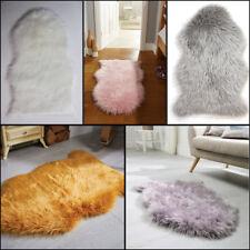Faux Fur Sheepskin Soft Rug in Pink Grey Cream Ochre Mauve in 60 x 90 cm (2'x3')